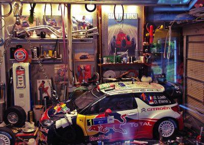 Vitrine Garage Citroën WRC / Sébastien LOEB