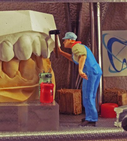Tableau 3D «Métier : Dentiste»