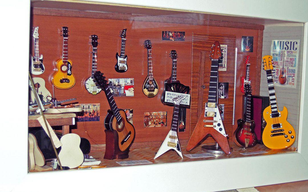 Vitrine Atelier de guitares