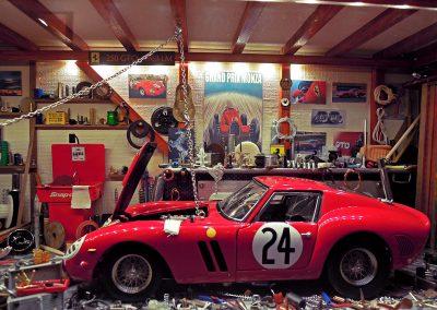Vitrine Garage Ferrari 230 GTO 1963 LM