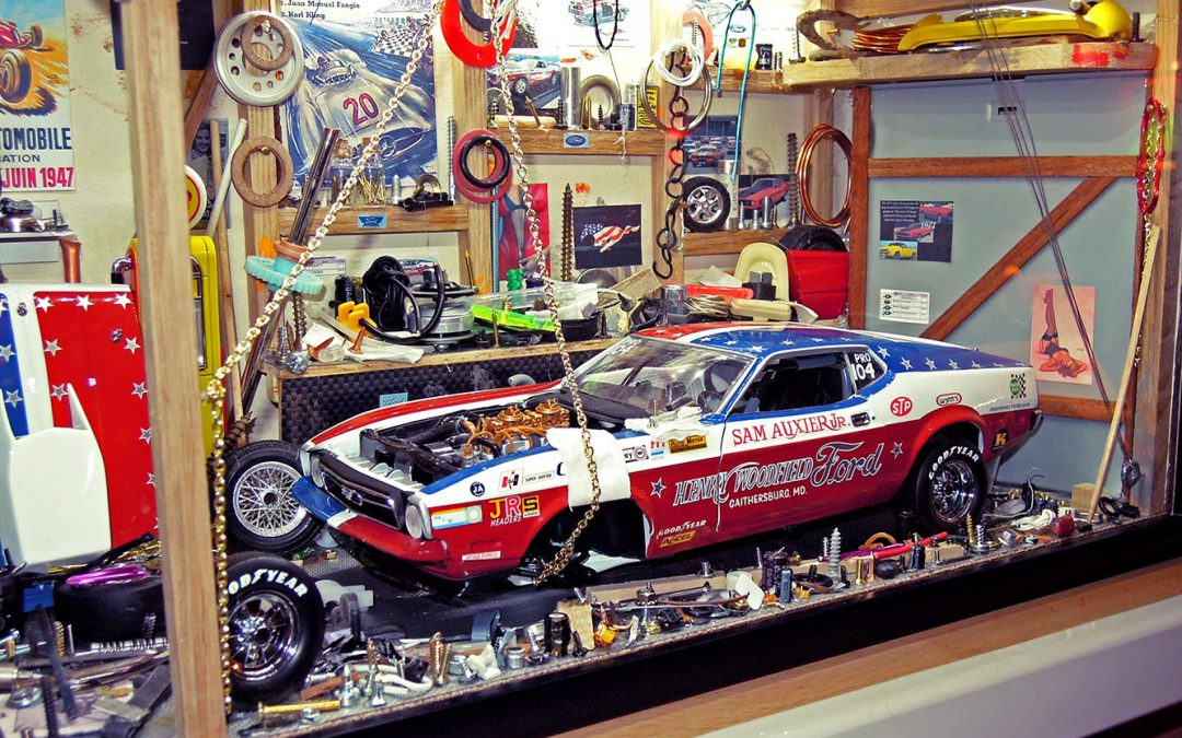 Vitrine Garage Ford Mustang Légend 1971