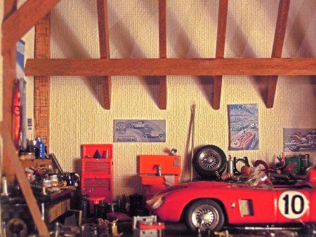 Vitrine Garage FERRARI rouge n°10