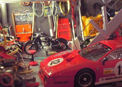 Vitrine Garage Ferrari Rouge n°12